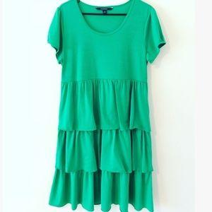Chadwicks kelly green ruffle dress large